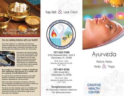 Ayurveda Brochure Front