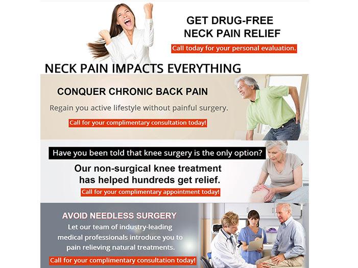 Chiropractic Clinic Website Slider